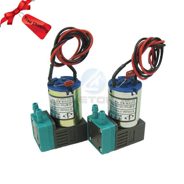 6 pièces LETOP livraison gratuite JYY 100 200 ml/min 24V 3W petite Micro pompe à membrane pour imprimante à jet dencre