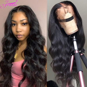 Body Wave Lace Front Wig 13X4 Human Hair 28 30Inch Malaysian Hair Front Lace Wig perruques bresiliens cheveux humain hair Loose(China)