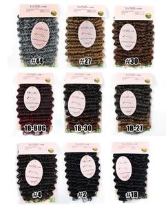 Image 5 - Häkeln Haar Tief Wellig Niedrigen Temperatur Faser 10 Zoll 3 strand/pack Kann Re modell Synthetische Haar zöpfe Häkeln Briads