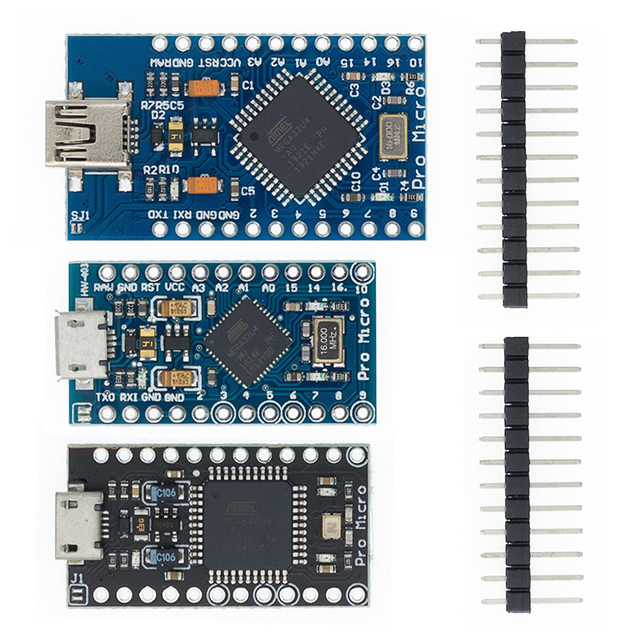 10pcs Mini USB ATmega32U4 Pro Micro 5V 16MHz Board Module For Arduino/Leonardo ATMega 32U4 Controller Pro Micro Replace Pro Mini