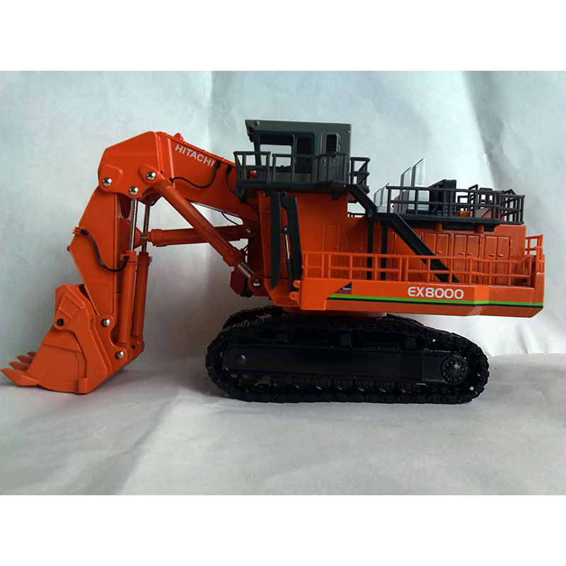 Ex8000 Front Shovel Excavator Super Alloy Car Model 1:87 Engineering Car Birthday Gift