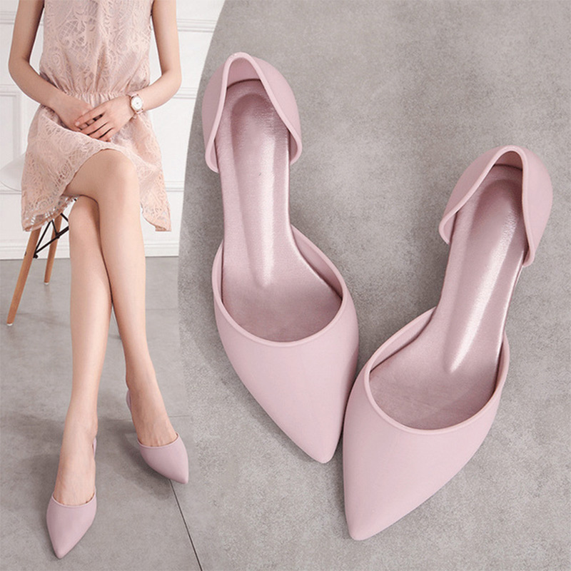 MCCKLE Summer Pumps Elegant Slip On Women's Ladies Women Pointed Toe Woman Thick Heels Female 2020 Fashion Crystal Jelly Shoes