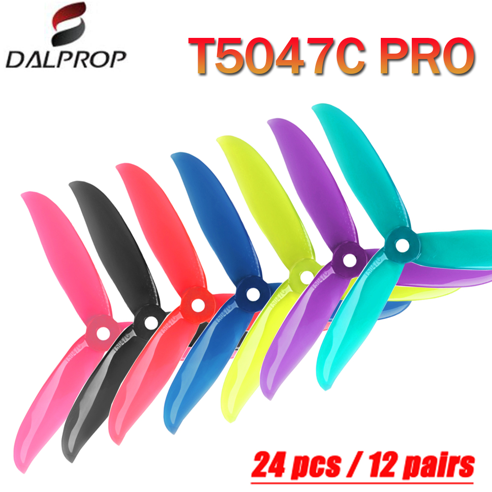 24 pcs / 12 pair DALPROP CYCLONE <font><b>T5047C</b></font> 5047 /<font><b>T5047C</b></font> <font><b>PRO</b></font> 3-Blade POPO CW CCW Racing Propeller For RC Drone FPV RC Models Part image