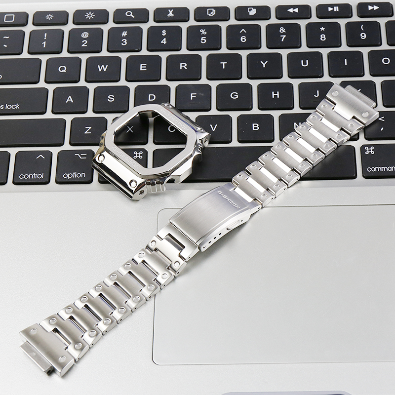 316L stainless steel strap watch case ladies DW5600 GW-M5610 GW-B5600 watch accessories for Casio G-SHOCK metal strap men band