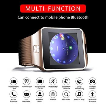 Mens Smartwatch DZ09 Smart Watch Men Support TF SIM Camera Sports Watches  Bluetooth Wristwatch Whatch Smarth reloj