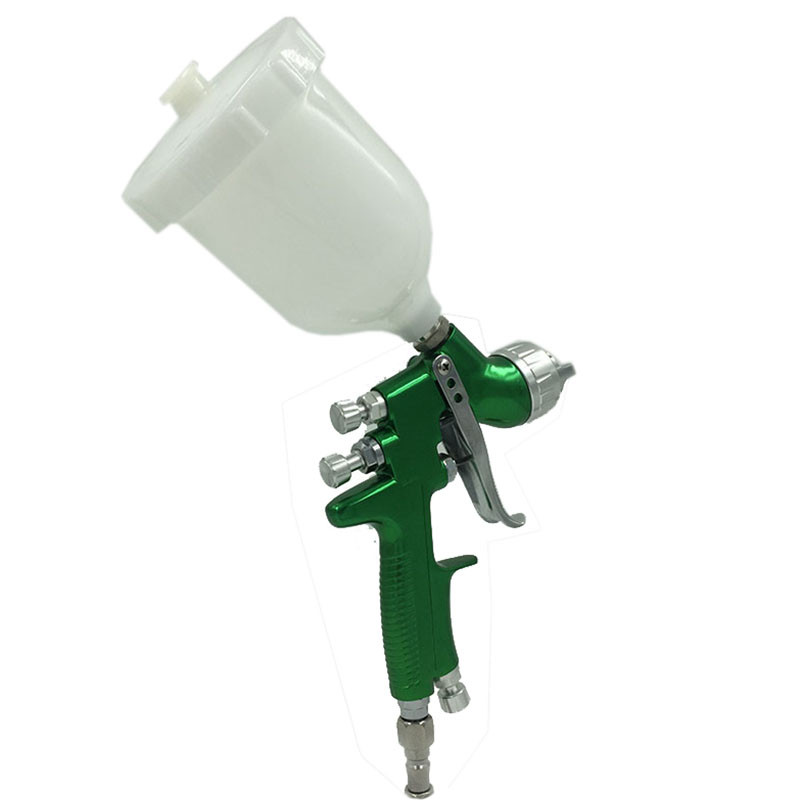 Free Shipping HVLP Repair Spray Gun1.4mm Gravity Feed HVLP Paint Sprayer With 600ml Cup