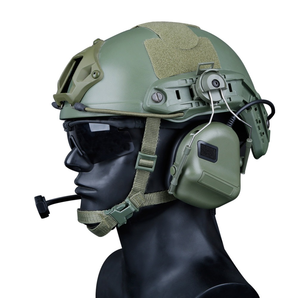 Details about  /Newest Tactical Headsets With Fast Helmet Rail Adapter Military Airsoft  Shoot