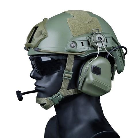 capacete militar fone de ouvido com adaptador ferroviario capacete rapido tatico fone de ouvido comtac