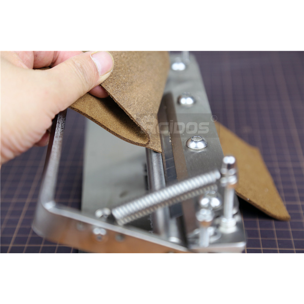 """Leather scraper pro 8.5"""" inch Manual leather skiver,RCIDOS leather peel tools,leather splitter plus,Work width 200mm-1"""