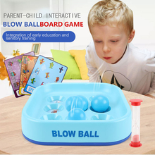 Baby Early Educational Toys Colors Animals Fruit Cognition Sets Parent-child Interactive Blow Ball Game Toys For Children Gifts