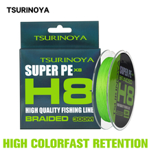 Pe-Line Braided Wire Smooth High-Strength TSURINOYA New 100m 300m 150m Ultra H8 Sink-Tip