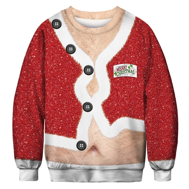 Funny Christmas Sweater Men Women Ugly Christmas Sweater For Holidays Santa Elf Sweater Autumn Winter Pullover Sweaters Clothing 10