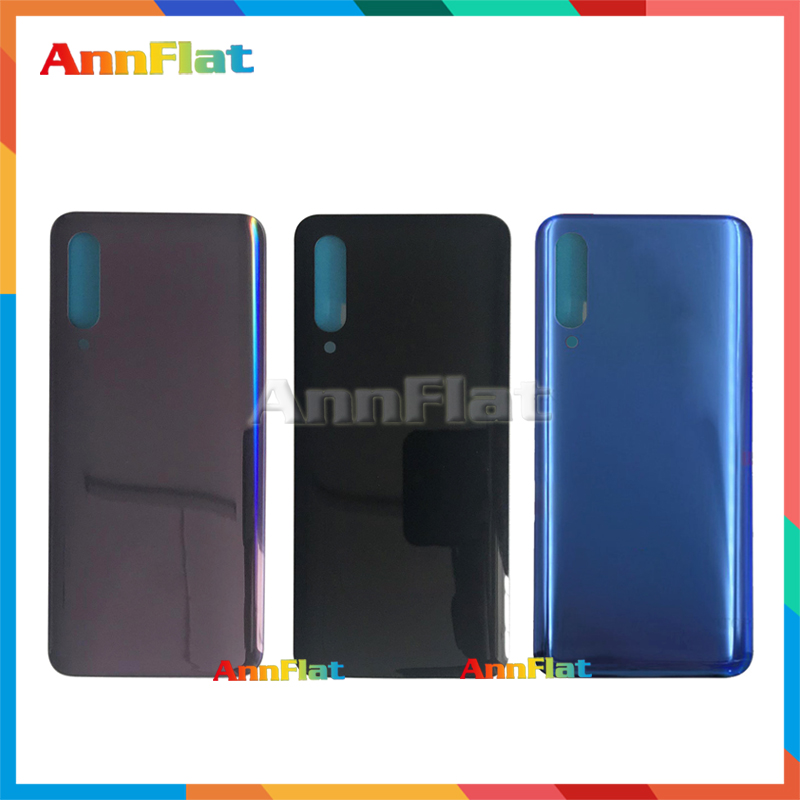 High Quality For <font><b>Xiaomi</b></font> <font><b>Mi</b></font> <font><b>9</b></font> Mi9 Back Housing <font><b>Battery</b></font> <font><b>Cover</b></font> Door Rear <font><b>Cover</b></font> Glass with Adhesive Replacement image