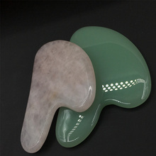 Натуральный нефрит гуаша доска натуральный камень скребок китайский Gua Sha инструменты для лица шеи спины тела Иглоукалывание давление терапия