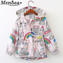 Menoea Girl Coats 2020 Hot Sale Autumn Baby Rose Jackets Kids outerwear Children Jackets Cartoon Print Outerwear Clothes cheap Fashion COTTON Stretch Spandex REGULAR O-Neck Outerwear Coats Full Fits true to size take your normal size Thin (Summer)