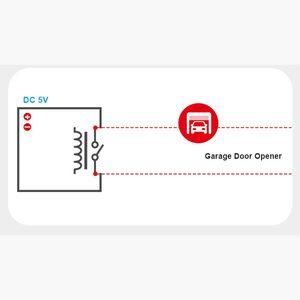 Image 5 - 5 adet SONOFF RE5V1C Wifi DIY anahtarı 5V DC röle modülü akıllı kablosuz anahtarları Inching/kendinden kilitleme mod APP/ses uzaktan açma/kapama