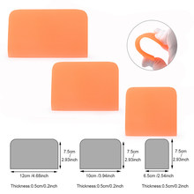 FOSHIO Auto Accessories Soft PPF Wrapping Squeegee Car Protective Film Pasting Scraper Carbon Fiber Stickers Window Tinting Tool