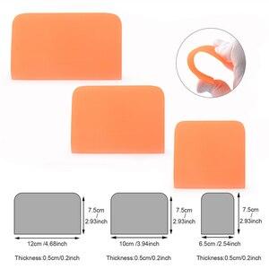 Image 2 - Foshio 3Pcs Zachte Ppf Schraper Zuigmond Vinyl Wrapping Carbon Fiber Film Sticker Plakken Tool Auto Wrap Window Tint Schoonmaken tool