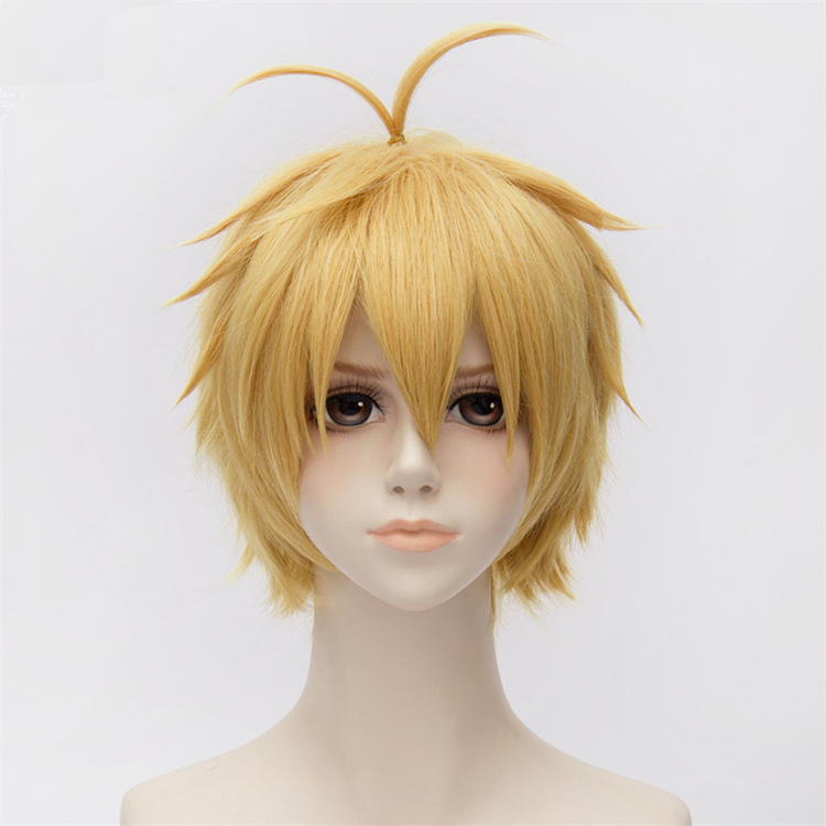 The Seven Deadly Sins Meliodas Cosplay Wigs Heat Resistant Synthetic Hair Perucas Cosplay Wig +Wig Cap