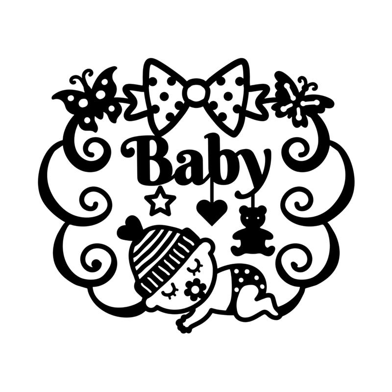 Eastshape Crafts Metal Steel Cutting Dies New Sleeping Baby Stencil For DIY Scrapbooking Paper/photo Cards Embossing Dies
