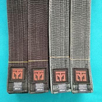 MOOTO Taekwondo cinturón negro 300cm320cm kárate yudo suite cinturón 9 niveles 100% algodón lavado TKD cinturón 5cm ancho entrenador cinturón