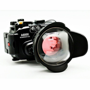 Image 2 - 40 m/130ft A6000 para Sony (16 50) carcasa de cámara subacuática + lente gran angular de puerto de cúpula + 67mm Filtro de buceo rojo