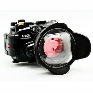 Image 2 - 소니 a6000 (16 50) 수중 카메라 하우징 + 광각 돔 포트 렌즈 + 67mm 레드 다이빙 필터 용 40 m/130ft