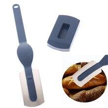 Couteau à pain en plastique, outils Lame à pain en plastique, boulangerie grattoir à pain/trancheur/coupe pâte pains Lame de marquage avec lames couteau incurvé en Arc