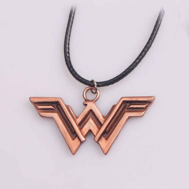Fashion DC Superhero Wonder Woman Super Hero Supergirl Alloy Pendant Necklace Gift For Women Charm Accessories Movie Jewelry