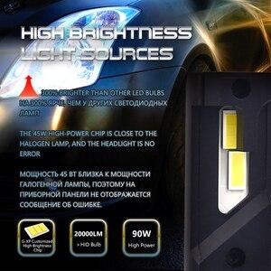 F3 20000LM 90W Canbus H7 Led фара супер яркий H1 H4 H8 H11 9005 9006 D2S D2C D2R Turbo светодиодные лампы для автомобиля 12V светодиодные лампы