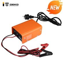 Полностью автоматическое зарядное устройство DEKO DK1210 12 в 10 А, 3 этапа, автомобильное зарядное устройство, умная быстрая зарядка, имеет тройную защиту с ЖК-дисплеем