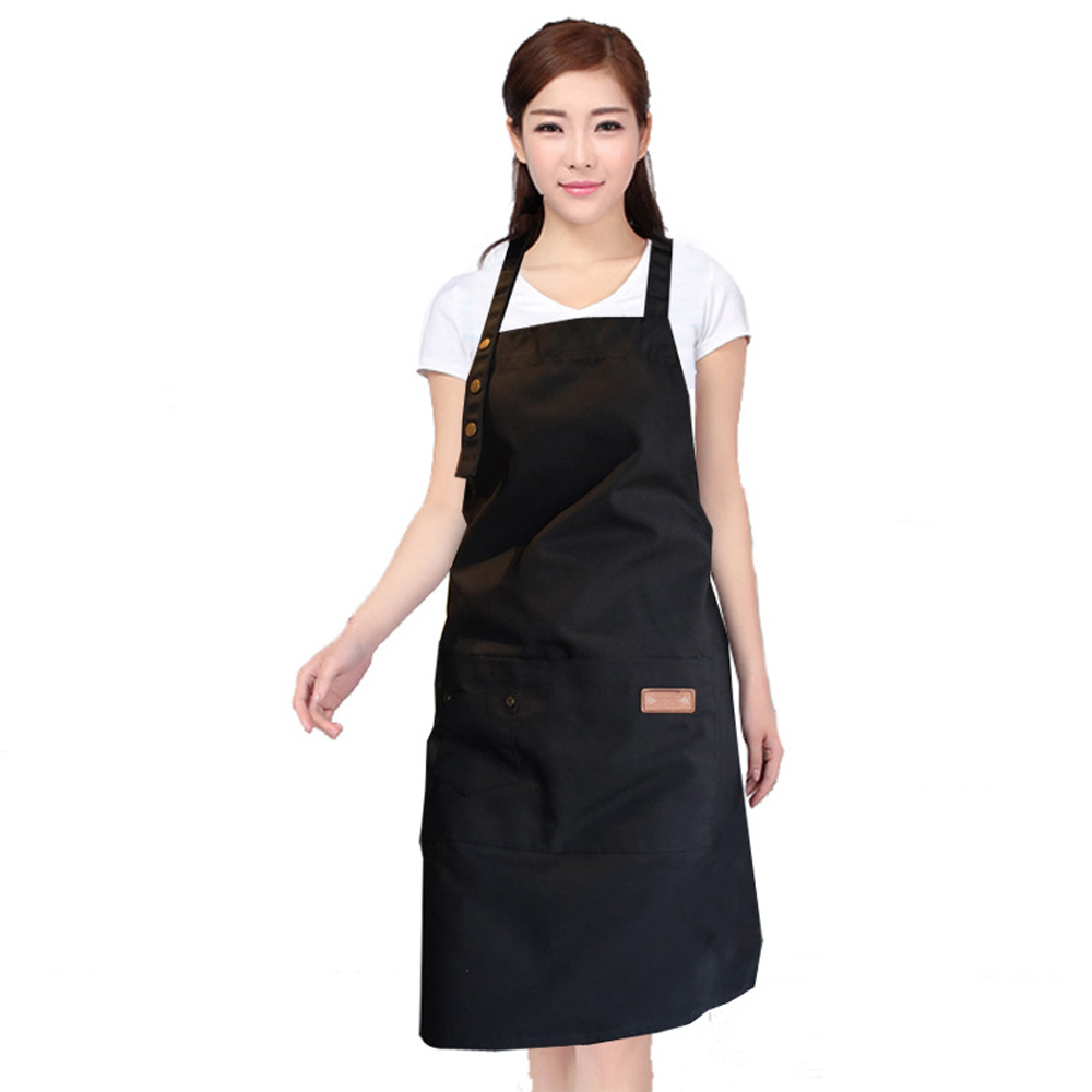 Women canvas Apron with Pockets Butcher Craft Baking Chefs Kitchen Cooking BBQ
