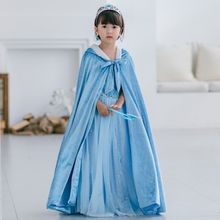 Winter Girls Princess Cloak Halloween  Anna Elsa Sofia Belle Girl Dressing Cape