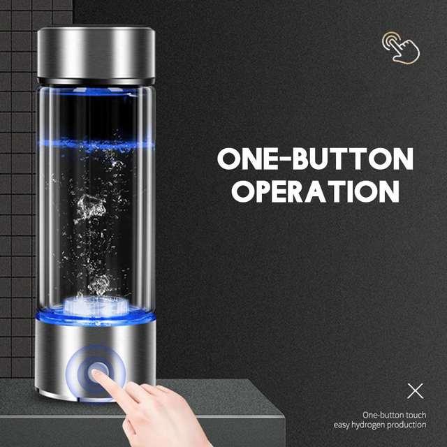 SPE/PEM Rich Hydrogen~Cup Water Generator Energy Hydrogen-rich Alkaline Water Ionizer Bottle LED Portable Anti-aging Healthy Cup