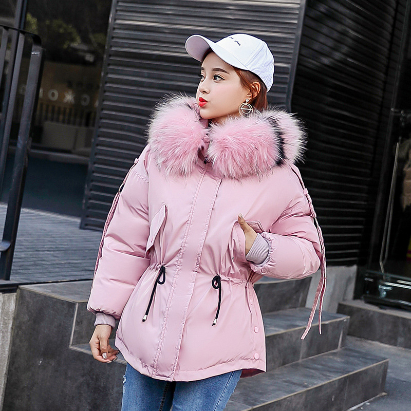 Fur Collar Parkas Mujer 2019 Winter Coat Women Overcoat Warm Jacket Loose Hooded Coats Casual Padded Casaco Chaqueta Oversize in Parkas from Women 39 s Clothing