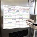 A3 магнитная доска для сушки стирания календарь набор 16X12Inch доска Еженедельник для холодильника Холодильник Кухня дом