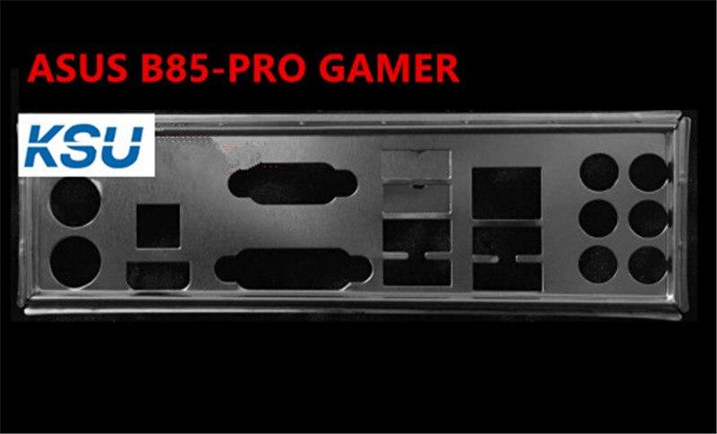 Support de plaque arrière de bouclier de/s de carte mère dordinateur pour ASUS B85-PRO, déflecteur arrière de plan de joueur, livraison gratuite