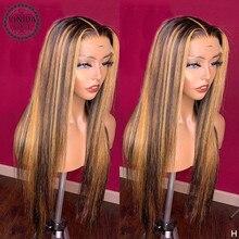 Stile VINIDA evidenzia dritto 150% densità 13 × 6 parrucche frontali in pizzo parrucche con chiusura superiore del cuoio capelluto parrucche con capelli per bambini Non Remy