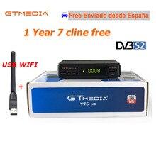 1 년 무료 유럽 egygold 7 라인 gt 미디어 v7s hd + usb wifi 안테나 DVB S2 1080 p hd youtube powervu newcamd 3g 스페인 셋톱 박스