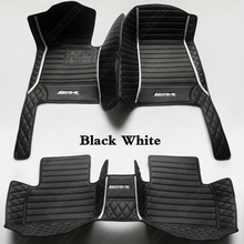 Car Floor Mats for Mercedes Benz M ML Class W166 2012-2015 SUV Leather Waterproof Non-Slip Auto Carpet Cover Pad Car Accessories