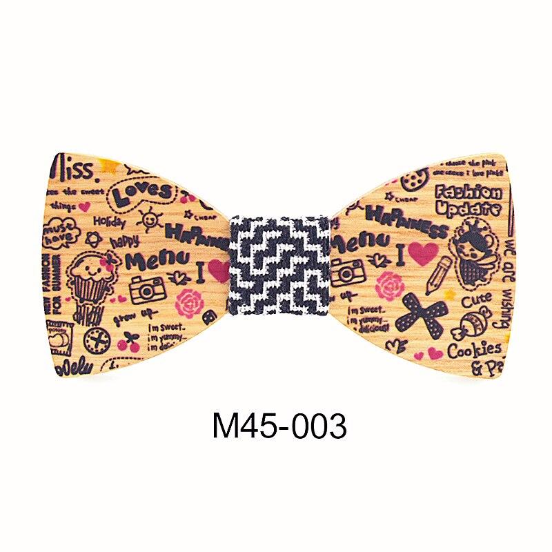 Children Polyester Bowtie Classic Cartoon Ties Men Boys Wooden Bow Ties Kids Girls Bowties Butterfly Cravat Cutey Wood Tie Boy S Tie Aliexpress