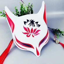 цена на Halloween Cosplay Animal Masks Plastic Masquerade Mask New Japanese Private Fox Mask Hand-Painted Cat Pulp Fox Half Face Mask