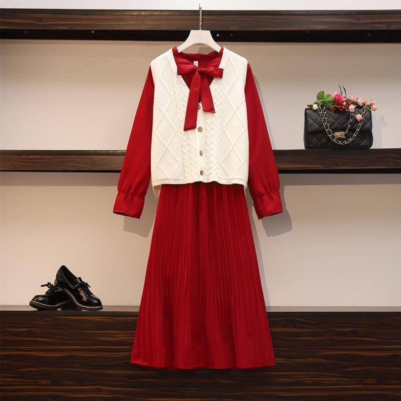 2020 New Girl Style One Piece Suit Dress, Women's Autumn and Winter Show Thin Long Sleeve Pleated Medium Length Shirt Dress 10