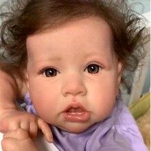 55CM Cute Reborn Baby Boneca Full Silicone Handmade Crooked Mouth Reborn Baby Doll Lifelike Babies T