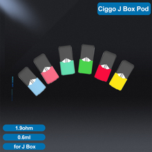 Gorący sprzedawanie elektroniczny papieros J Box kapsułki wkład wielokrotnego napełniania pusty pod fit JUUL J box Vape 0 7ml ceramiczna cewka w stcok tanie tanio SUB TWO CN (pochodzenie) NONE J Box Pods Niewymienne for JUUL J Box Vape 0 7 ml 1 9ohm
