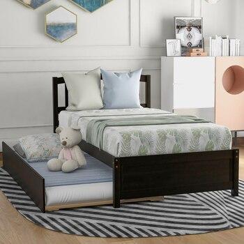 Twin Size Wood Frame Platform Bed 1