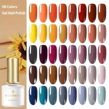 BORN PRETTY Autumn Series Nail Gel 58 Colors Yellow Orange Pure Color Soak Off UV Polish 6ml for Manicuring DIY
