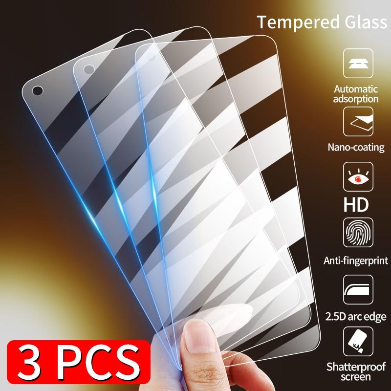 3PCS Full Cover Tempered Glass For Xiaomi Redmi Note 9 9S 8 7 K20 Pro Screen Protector Glass For Xiaomi Redmi 7A 8A K30 pro Film
