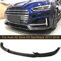 Спойлер для переднего бампера из углеродного волокна для Audi A5 Sline S5 S5 Sedan Sportback 2017 2018 автомобильный передний спойлер для губ разветвитель фар...