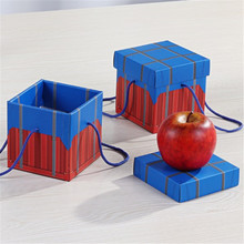 1 pcs Christmas Chicken Empty Box Gift creative Eve Apple  World Cover Snack Candy